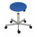 Stainlessl steel swivel stool Model 3912 with Castors,...