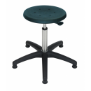 Stainless swivel stool Model 3932 with Gliders, Seat...